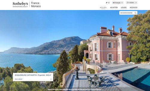 Le site national Sotheby's International Realty France-Monaco